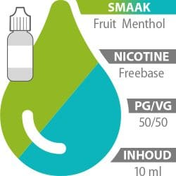 E-liquid Fruit Menthol Freebase 50%/50%