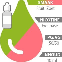 E-liquid Fruit Zoet Freebase 50%/50%