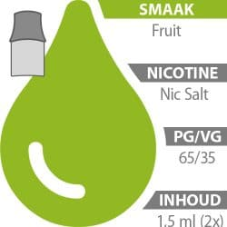 Blu pod's Fruit Nic Salt 65%/35%