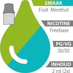 Pod's Fruit/Menthol Freebase 50%/50%